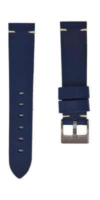 Handmade Navy Blue Leather Strap - 20mm